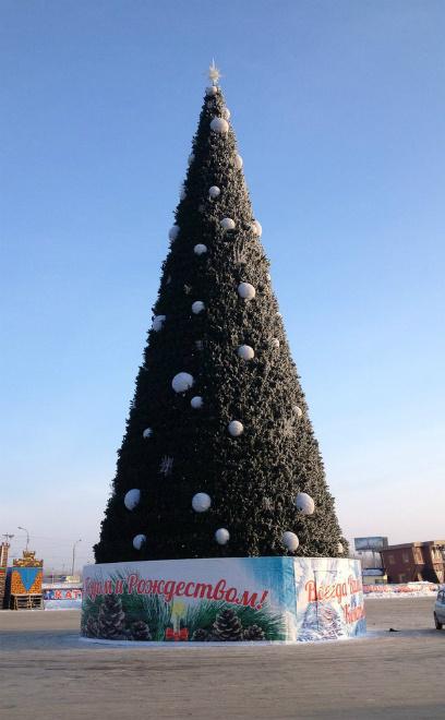 Омск, новогодние городские елки 2014