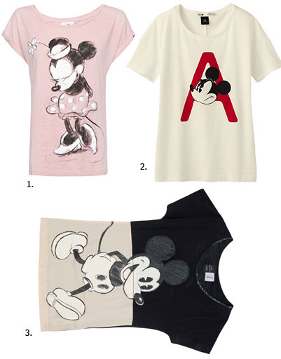 1. Футболка Mango; 2. футболка Uniqlo; 3. футболка Zara