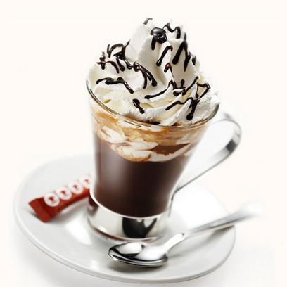 Десерт I love Piedmont с шоколадом и топингом Забайон