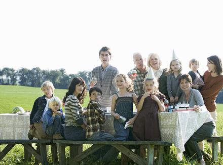Портрет большой семьи