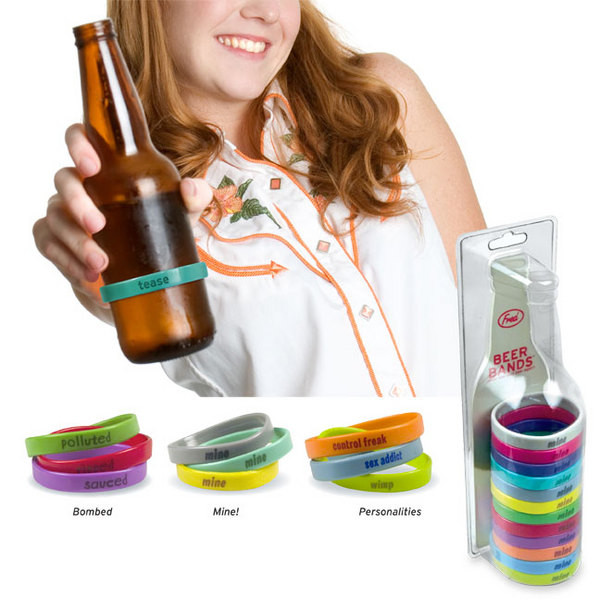 «Браслеты» для пивных бутылок, студия Fred, в наборе 12 штук, $7,75 на amazon.com