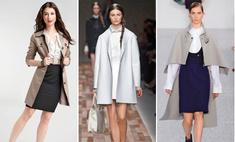 Какую юбку носить с пальто