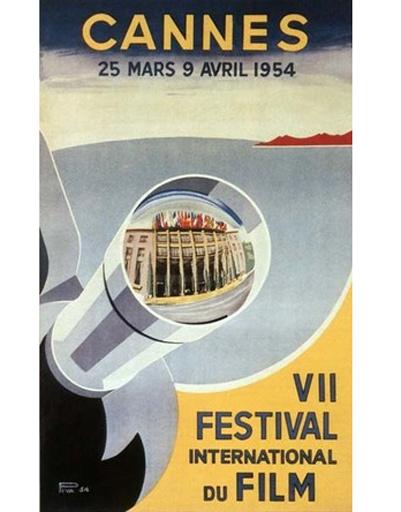 Постер Каннского фестиваля 1954 года