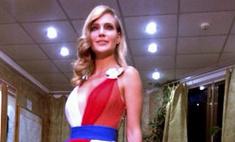 Наталья Ионова выступила в патриотичном платье