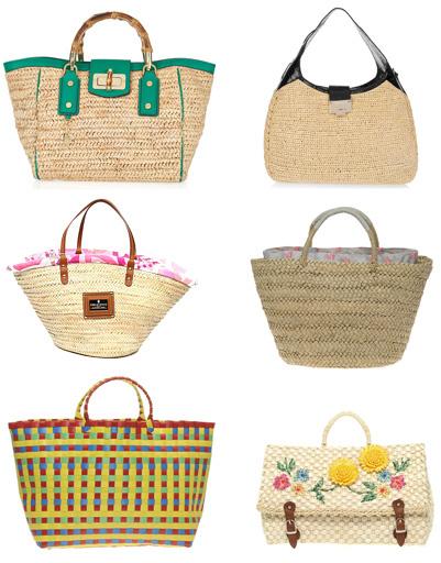 Левый ряд: сумка Milly, сумка Emilio Pucci, сумка Asos; правый ряд: сумка Jimmy Choo, сумка Cath Kidston, сумка Asos