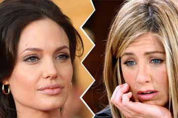 Анджелина Джоли и Дженнифер Энистон.