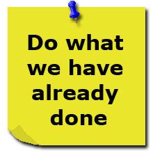 Сделай то, что мы уже делали