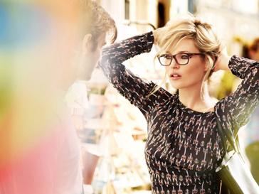 Кейт Мосс (Kate Moss) в рекламной кампании Vogue Eyewear