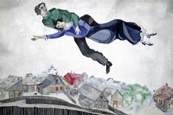 """Марк Шагал (Marc Chagall), """"Над городом"""", 1914-1918"""