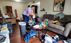 Парень месяцами не убирался в доме и превратил его в хлев, а потом навел порядок за день (ускоренное видео)