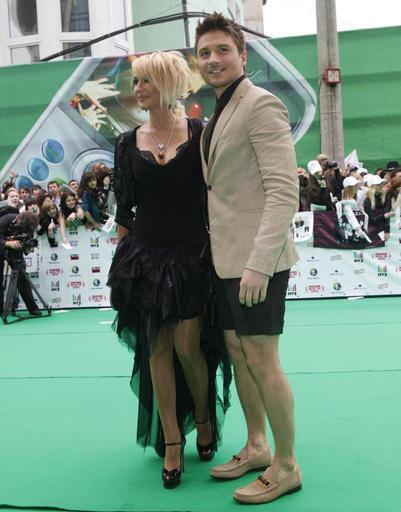 Лера Кудрявцева и Сергей Лазарев на Премии Муз-ТВ