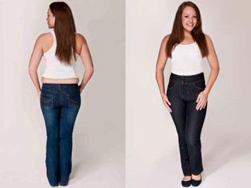 """""""До"""" и """"после"""": джинсы убирают лишние сантиметры на талии и делают ягодицы стройнее"""