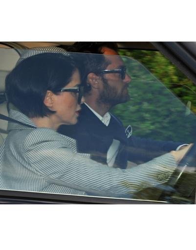 Сэди Фрост и Джуд Лоу на свадьбе Кейт Мосс