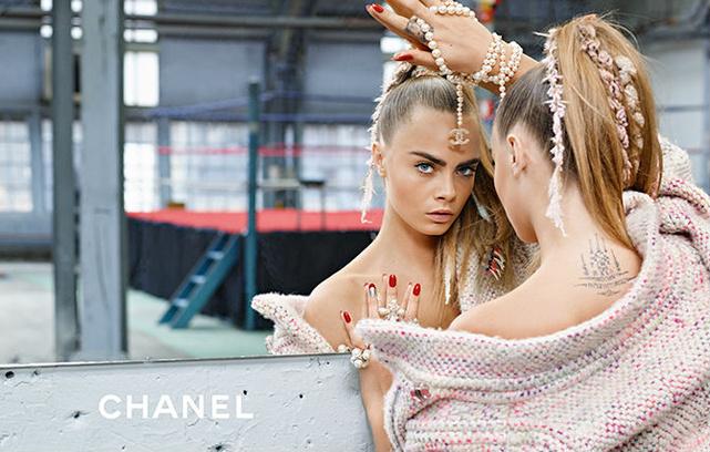 Кара Делевинь, Chanel, фото 2014