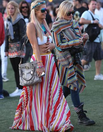 Пэрис Хилтон (Paris Hilton) на музыкальном фестивале Coachella 2012