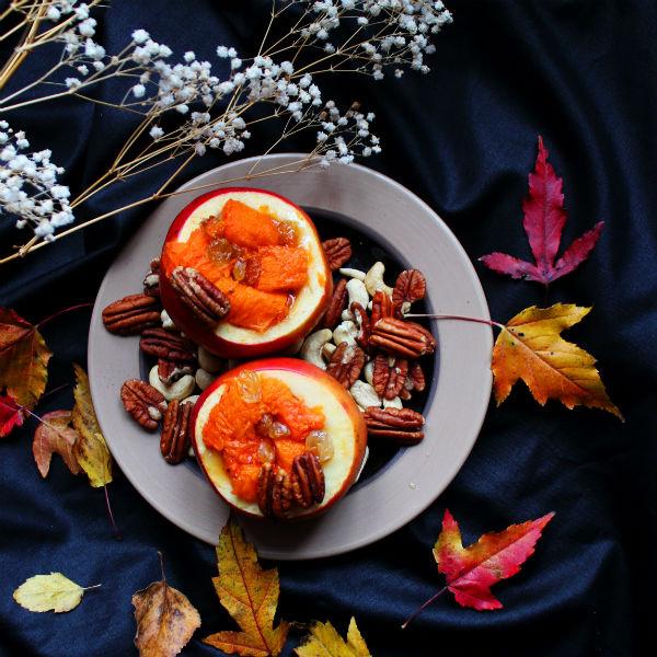 Яблоки, запеченные с тыквой, от Юлии Тесленко