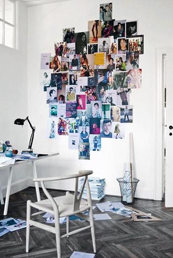 Создайте стенд, на котором можно разместить фото всех сотрудников офиса. Или организуйте стену, на которую вы поместите веселые картинки рабочих будней вашего коллектива.