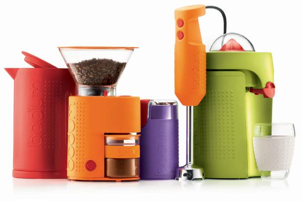 Новая коллекция цветной кухонной техники от Bodum