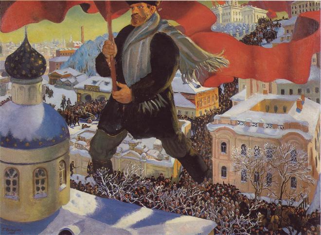 Борис Кустодиев. Большевик