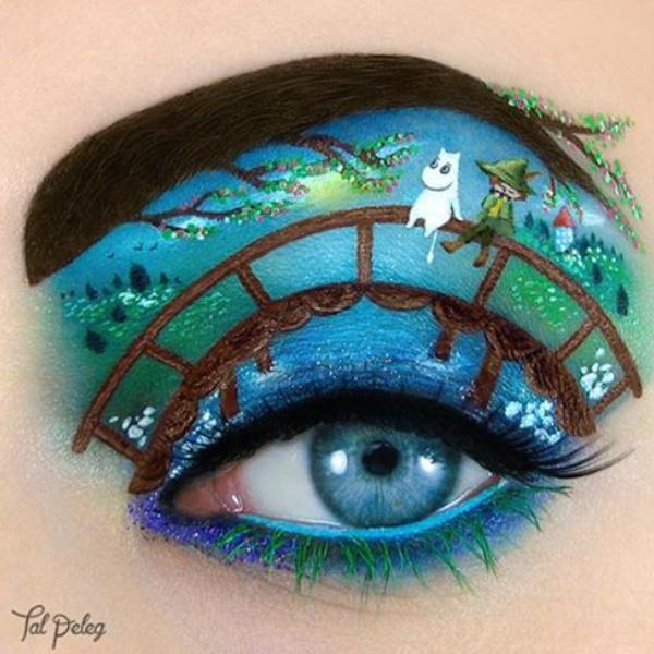 визажист рисует на глазах сказочных героев