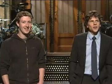 Марк Цукерберг (Mark Zuckerberg) и Джесси Айзенберг (Jesse Eisenberg) встретились