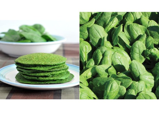 Фото №1 - Полезный завтрак: зеленые оладьи из шпината с гуакамоле по рецепту Владимира Мухина