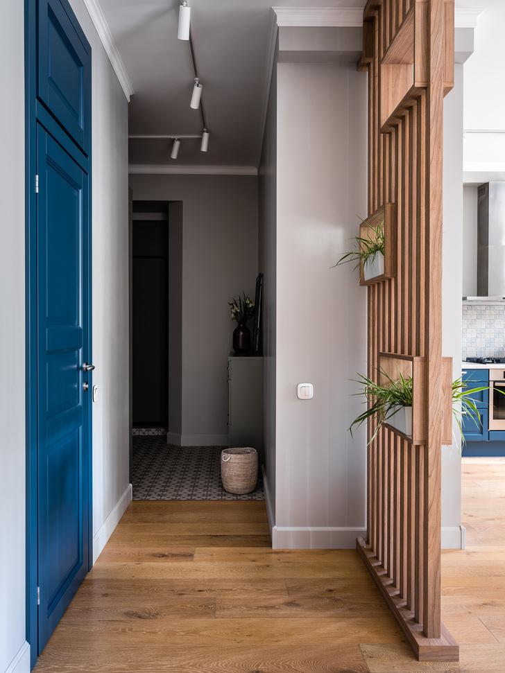 Фото №2 - Московская квартира 90 м² в серо-голубых тонах