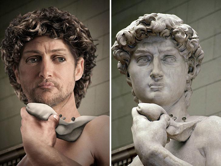 Фото №1 - Как выглядели бы в реальной жизни знаменитые статуи
