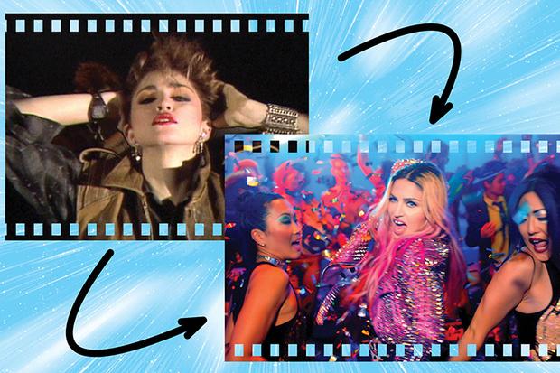 Мадонна в клипах Everybody и Bitch I'm Madonna