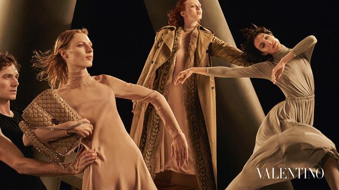 Фото №2 - Fashion-танец в осенней кампании Valentino