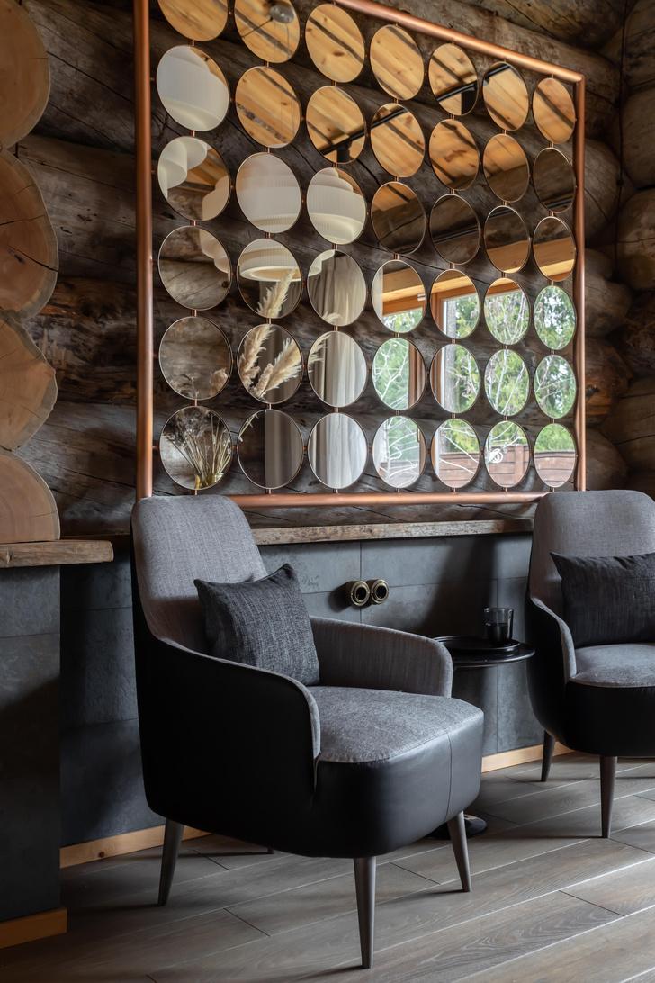 Фото №1 - Деревянная баня с высокотехнологичным дизайном в Подмосковье