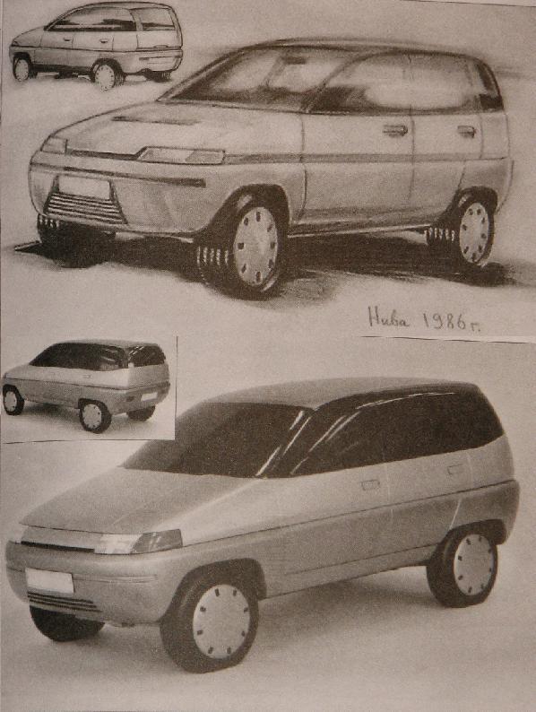 Вот такой симпатичную «Ниву-2» представляли еще в 80-х…