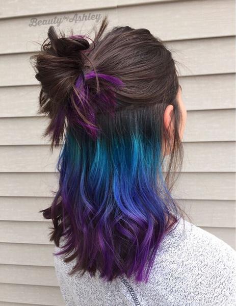 Фото №4 - Hidden Color: как сделать яркое окрашивание волос, с которым можно даже в школу