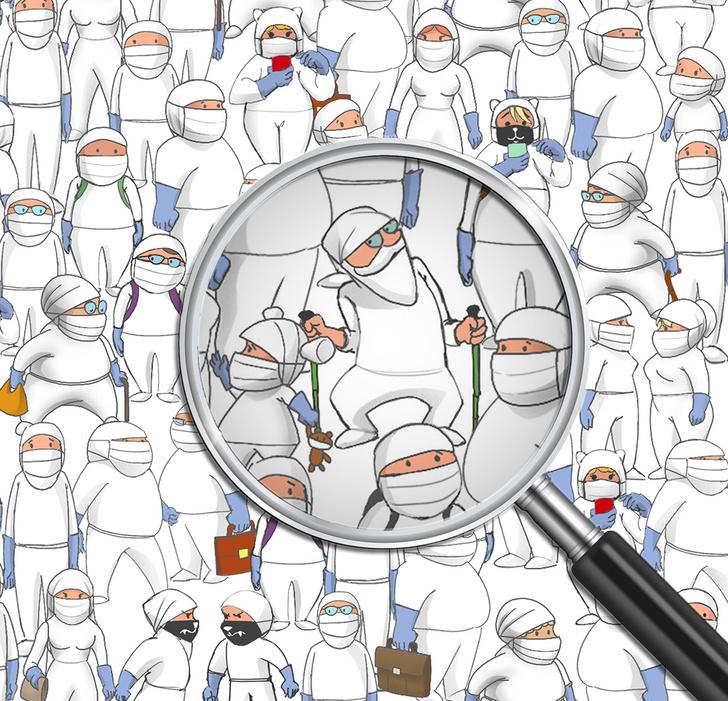 Фото №4 - Найди человека без защитной маски на этой картинке