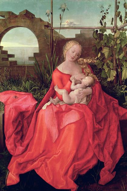 Альбрехт Дюрер (Albrecht Durer), живопись, 16 век, Мадонна и младенец