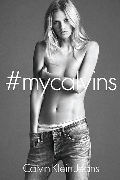 Фото №1 - Лара Стоун в рекламной кампании Calvin Klein