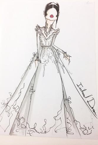 Фото №2 - Свадебное платье мечты: 10 трендов с Bridal Fashion Week SS19 в Нью-Йорке