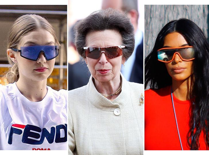 Фото №1 - От Джиджи Хадид до принцессы Анны: в этом сезоне все носят спортивные очки (и вам пора)