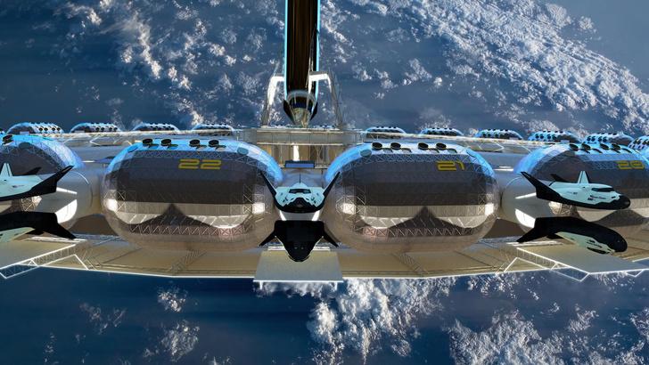 Фото №2 - Концепт: как будет выглядеть отель, расположенный в космосе