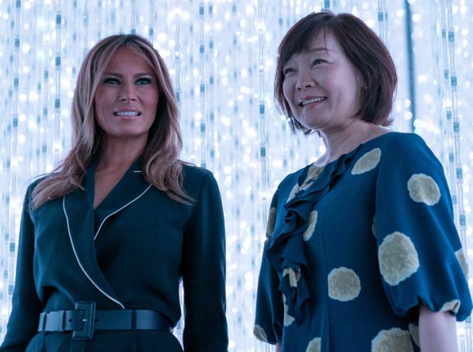 Фото №7 - Дональд и Мелания Трамп прилетели в Японию