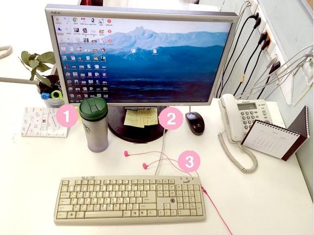 Фото №7 - Кукла вуду, наушники и еда: что на рабочих столах у редакции Elle Girl