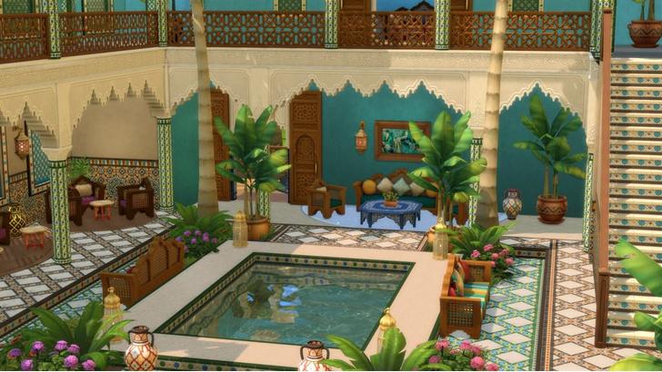 Фото №1 - Любуемся скринами свежего каталога «Личный оазис» для The Sims 4 ⛲