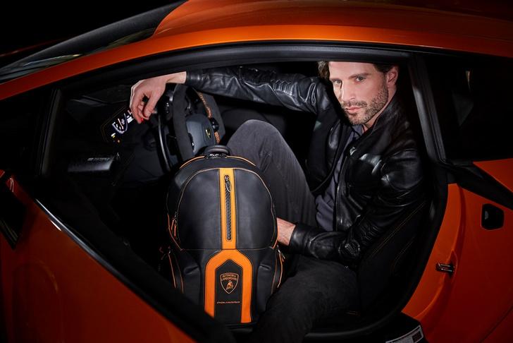 Фото №1 - Piquadro и Lamborghini представили рюкзак Bagmotic Special-Edition Automobili Lamborghini Backpack на Женевском автосалоне 2019