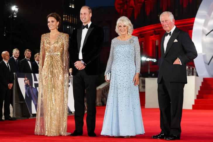 Кейт Миддлтон, принц Уильям, Камилла Паркер Боулз и принц Чарльз