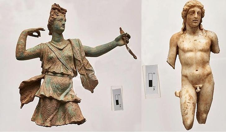 Фото №1 - На Крите нашли две уникальные статуэтки греческих богов
