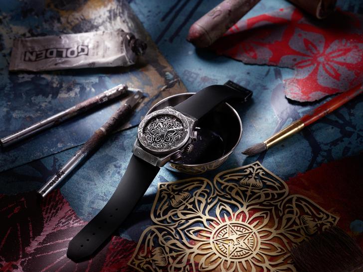 Фото №2 - Арт-объект на запястье: Hublot совместно с Шепардом Фейривыпустил самые символичные часы