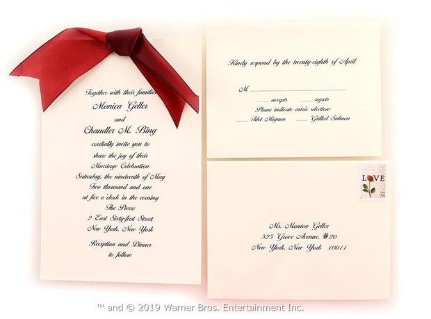 Приглашение на свадьбу Моники и Чендлера