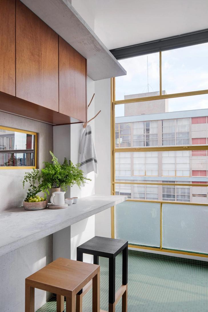 Фото №3 - Модернистская квартира в доме 1940-х в Бразилии