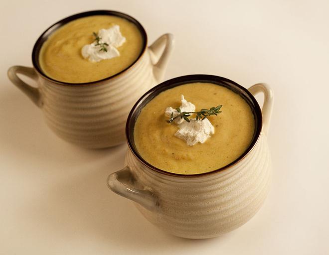 крем суп с сыром
