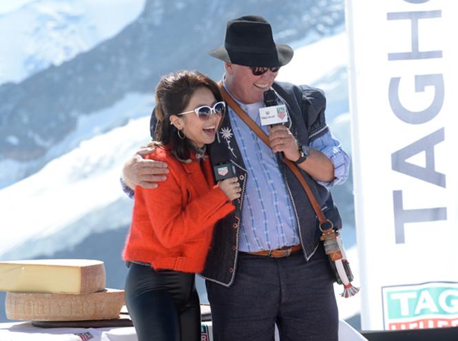 Фото №1 - Певица G.E.M. выступила на леднике Юнгфрауйох
